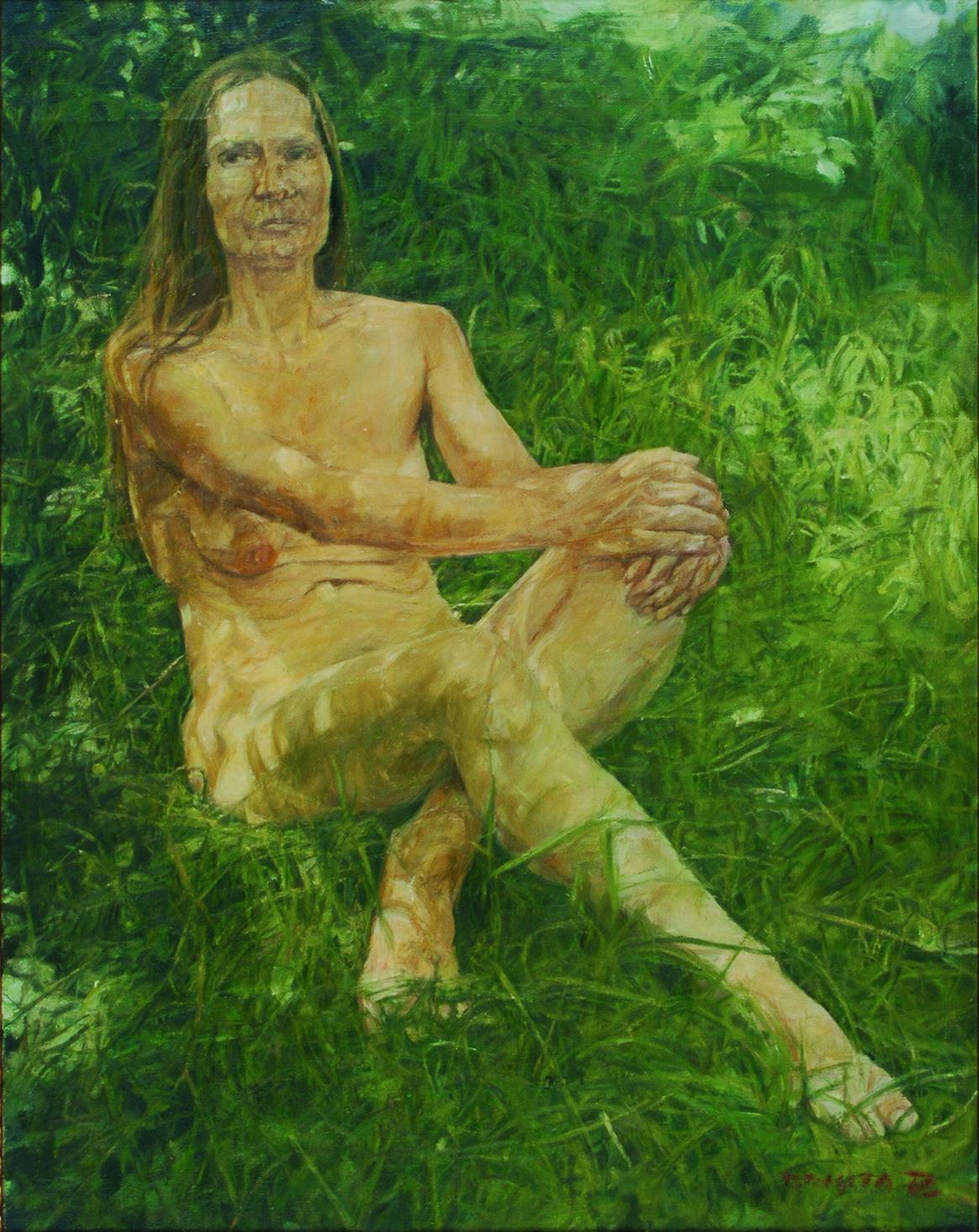 Avtoportret, olje, platno, 90,5 x 71 cm_pom