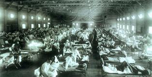 spanska gripa bolnisnica ZDA 1918