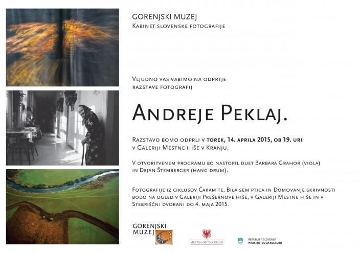 Odprtje razstave fotografskih del Andreje Peklaj