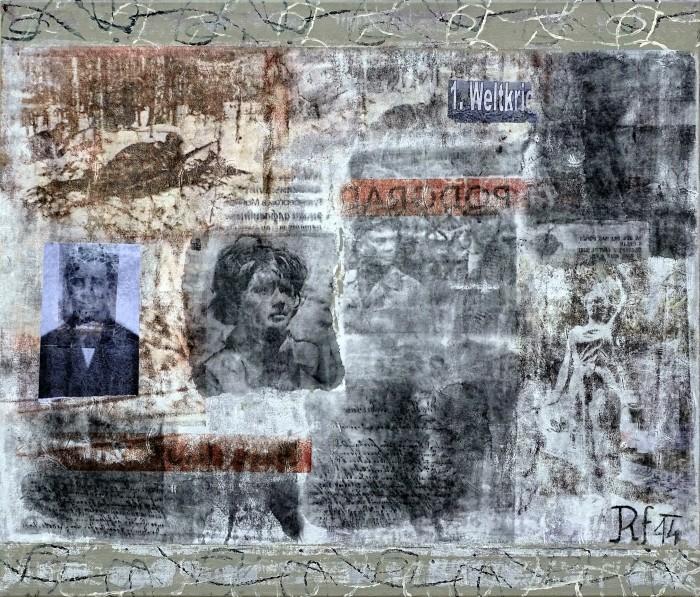 Odprtje slikarske razstave Proti vojni Franca Rasingerja