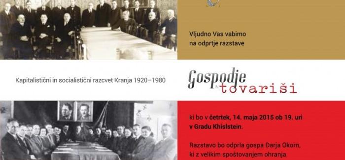 (Slovenski) Odprtje razstave Gospodje in tovariši