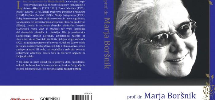Okrogla miza posvečena prof. dr. Marji Boršnik