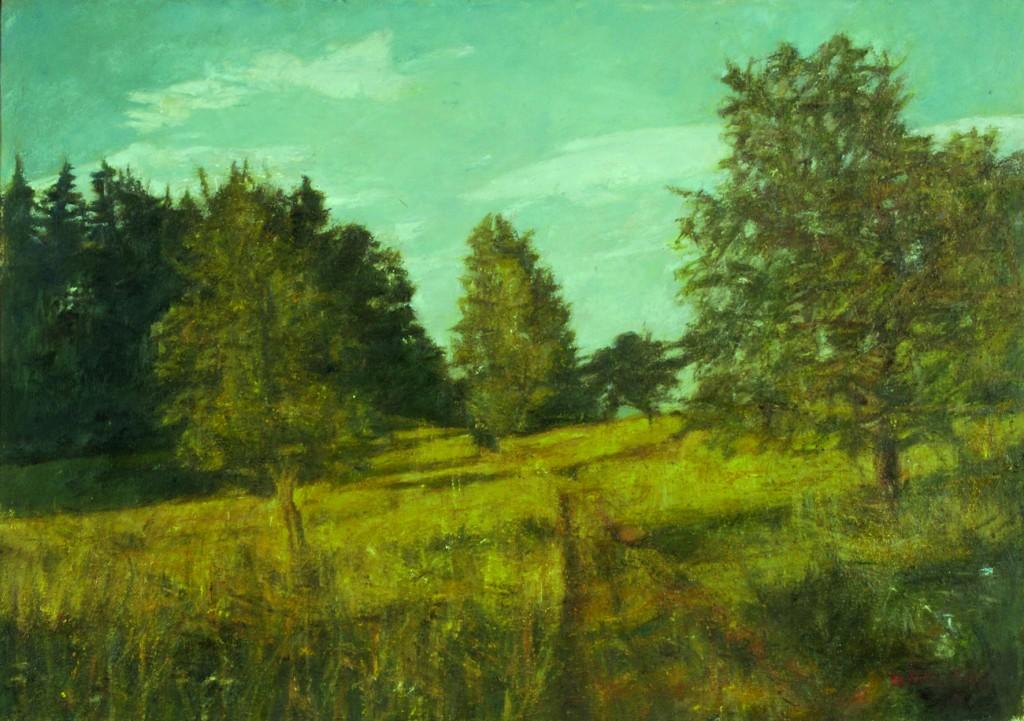 Poletna krajina, olje, platno, 60 x 85 cm_pom