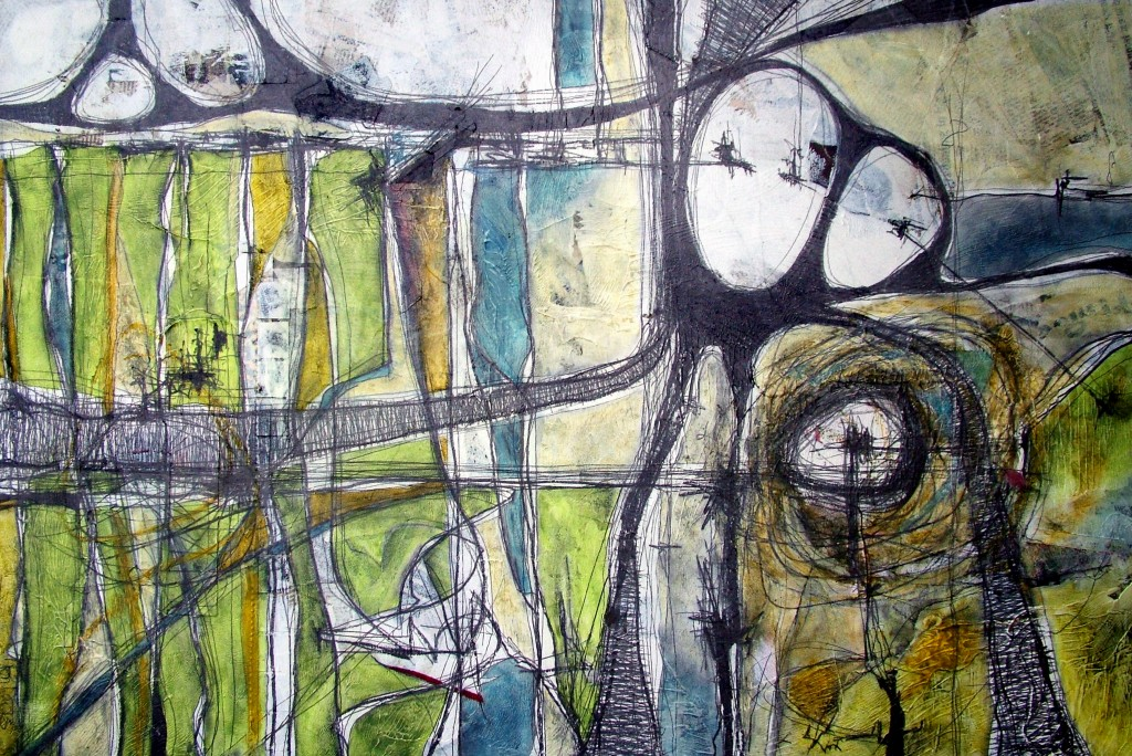 Ron Weijers - Moving On I - 60x90 - mixed media