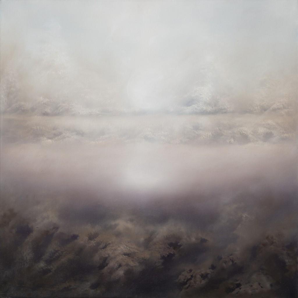 Valentina Angeli, titolo Winter, olio su tela cm 80 x 80, 2015