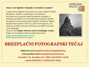 Brezplačni fotografski tečaj @ grad Khislstein | Kranj | Kranj | Slovenija