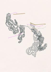 13. Iz cikla Urejanje okrasnih rastlin, 29,7 cm x 21 cm, 2015, risba na papirju_mala_LUČKA ŠPAROVEC