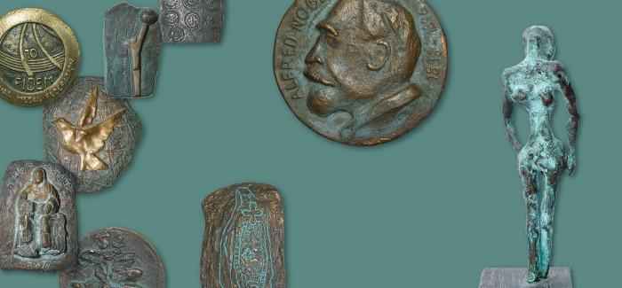 Odprtje razstave del Jožeta Stražarja – medalje, plakete in male plastike