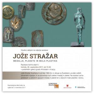 (Slovenski) Odprtje razstave Jože Stražar - medalje, plakete in mala plastika