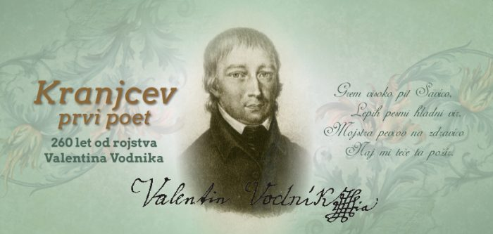 Odprtje razstave Kranjcev prvi poet – 260 let od rojstva Valentina Vodnika