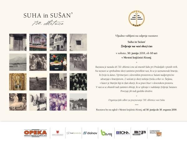 Odprtje razstave Suha in Sušan – življenje na vasi skozi čas