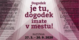 """(Slovenski) ODPOVED Odprtje razstave """"Dogodek je tu, dogodek imate v mestu!"""" - Teden slovenske drame - 50 let @ Grad Khislstein"""