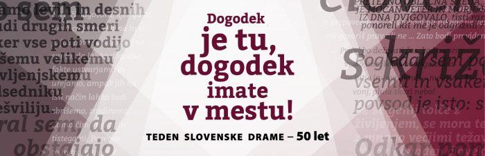 Odprtje razstave Dogodek je tu, dogodek imate v mestu! – Teden slovenske drame – 50 let