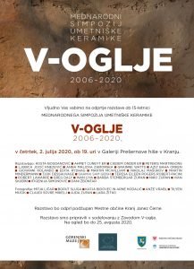 Odprtje razstave Mednarodni simpozij umetniške keramike V-Oglje 2006-2020 @ Prešernova hiša