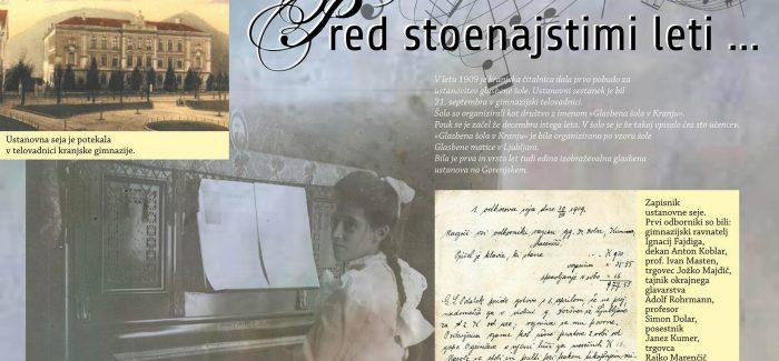 Odprtje razstave 111 let Glasbene šole Kranj