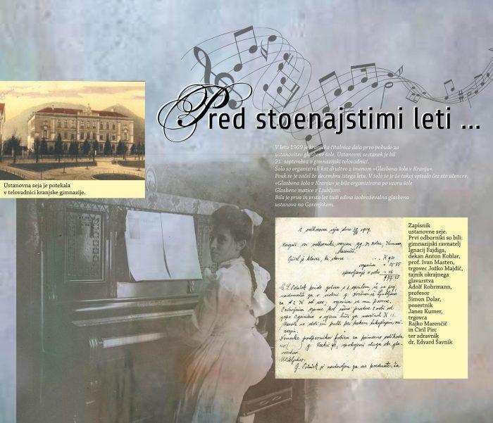 Razstava 111 let Glasbene šole Kranj