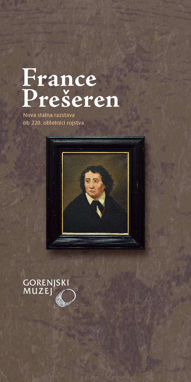 Spletno odprtje nove stalne razstave o pesniku Prešernu