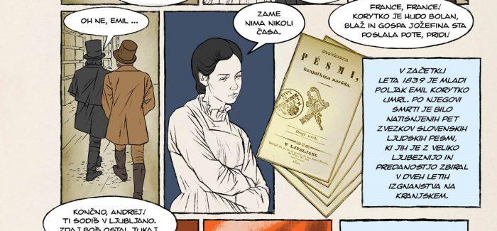 The comic book about Prešeren